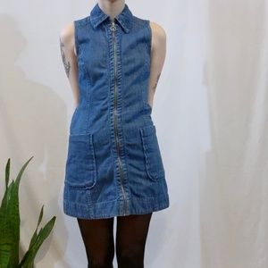 Denim Zip-Up Dress
